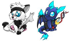 Blade and Lone Chibis by NarmiCreator