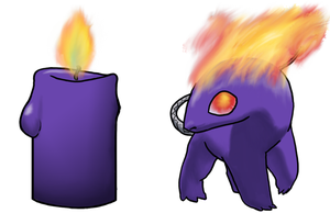 Candle Sprite - Purple by Pencil-Artisan