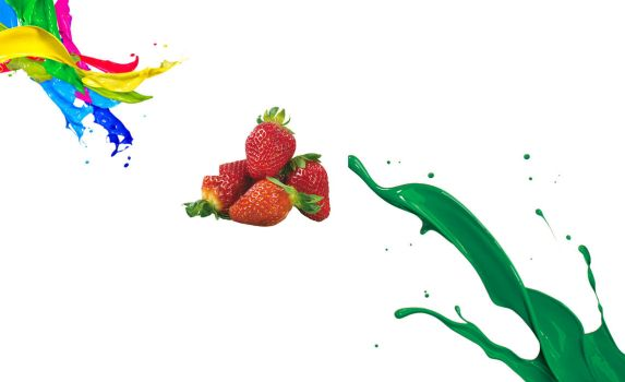Paint Splash And Fruits PNG by SA by shaffiqazman