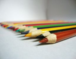 Coloured pencils by Laura-in-china