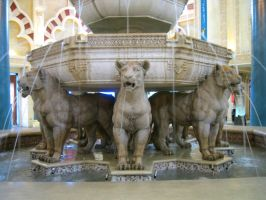 stock lion fountain by elisafox-stock