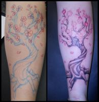 Tattoo - F11 - Cherry Tree by BooBelle