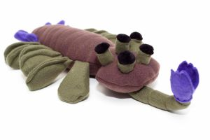 Plush Opabinia in brown by Paleogirl