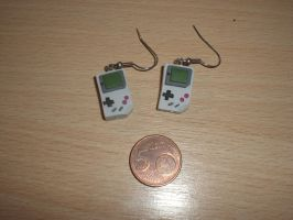 Gameboy Earrings by Le-Blue-Fox