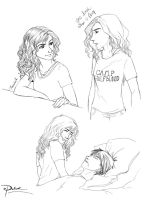 Annabeth Sketches by palnk