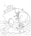 Coloring Page: Pinky 'n the Brain Recover Rodents by AyakoOtani