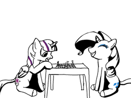 Quick Doodle. A Game of Chess by NtmrMoon