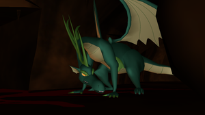 Wild Adult Green Dragon + DL by Valforwing