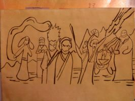 Sokka's group picture by blackpearlz824
