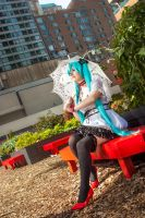 Proper like a Princess - Miku Hatsune Cosplay by KendraKei