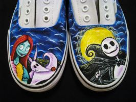 TNBC painted shoes by ArtCrazy24-7