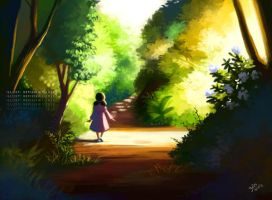 Girl in Path by gem2niki