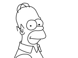 Homer-Simpson-Lineart by TimpanogosArt