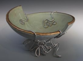 bowl with wire stand by ghostgray