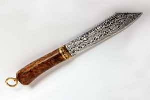 Damascus Seax by Ugrik
