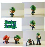Weekly Sculpture: Baby Luigi by ClayPita