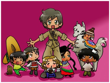 APH: Spain and his friends by tamarushka