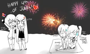 HAPPY 4TH OF JULY by XUsagi-Chan