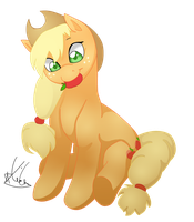 Mane Six Apple Jack by Kiwi-Heart