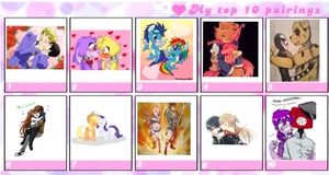 My top ten pairings  by Foxstar085