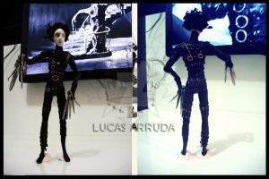 Edward Scissorhands in polymer clay by Lucas-Arruda