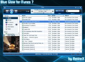 Blue Glow iTunes Theme by RaiderXXX