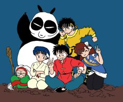 Ranma's troupe by MomopyChan