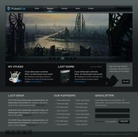 How to design the FT Black And Blue Weblayout by Grafpedia