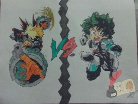 .:FA/CE:. Bakugou VS Deku by MariiCreations93