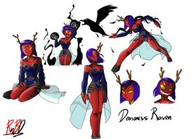 Raven the Demoness by RednBlackDevil