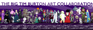 The Big Tim Burton Art Collab by tavington