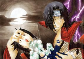 Itachi kills Sasuke by TheaAL