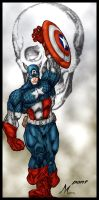 CAPTAIN AMERICA by pant color by Mich974