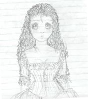 Cosette with curly hair by haseosauragurl
