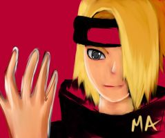 Deidara of The Akatsuki by MasterAki