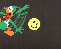 Original Hand Painted Tiny Toons Plucky Duck by AnimationValley