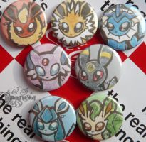 Button set Eeveelution by RonTheWolf