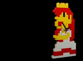 Princess Toadstool LEGO Clock by RickyVonReven