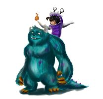 Annie and Tibbers, Monsters INC Skin by Wolfenizex
