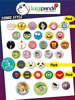 Comic Style Pins by luigipanda