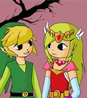 Link and Zelda by NegxPosxReal
