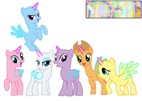 MLP mane six base by xXxMLP-FiMxXx