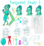 Turquoise Study by Raphaelsgirl