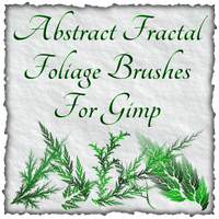 Abstract Fractal Foliage Brushes For Gimp by Xavasia