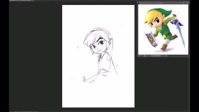 Toon Link [SPEED DRAWING] by Fratellanza
