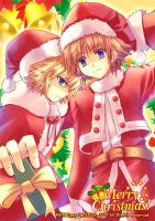 Christmas day ROXAS AND SORA by kiercat1999