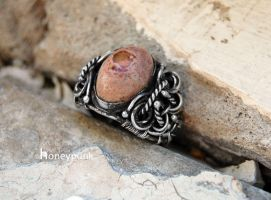 Ring Cortes, silver sterling, opal by honeypunk