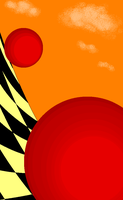 Red Sphere Planes-3 by dinshino