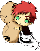 Chibi Gaara (Coloured) by Arcane2398