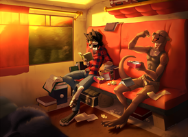 Travel by train by KeroTzuki94